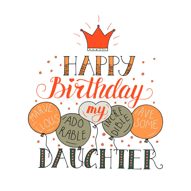 Birthday Card For Daughter Stock Vector Illustration Of Greeting Daughter 92025300