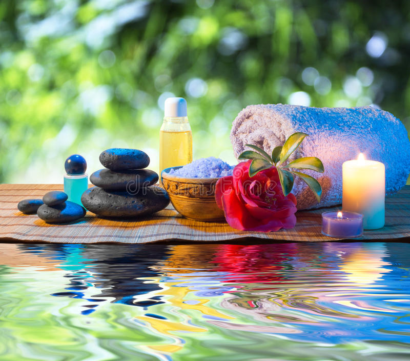 Relax Images Water Candle