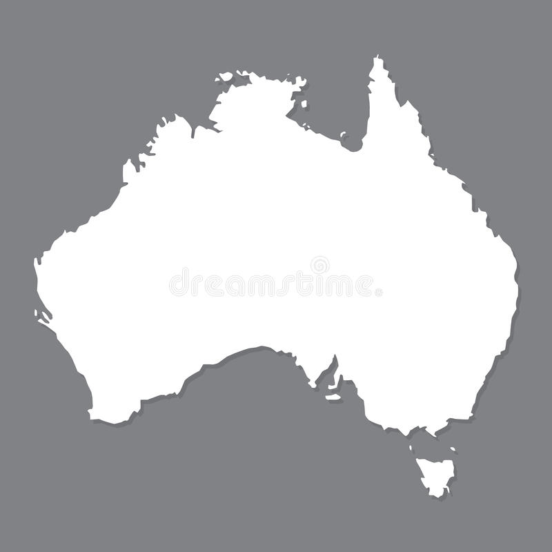 Blank Map Of Australia  Map Of Australia On Grey Background  Stock     Download Blank Map Of Australia  Map Of Australia On Grey Background  Stock  Vector
