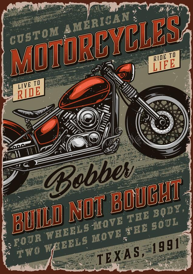 Bobber Motorcycle Stock Ilrations