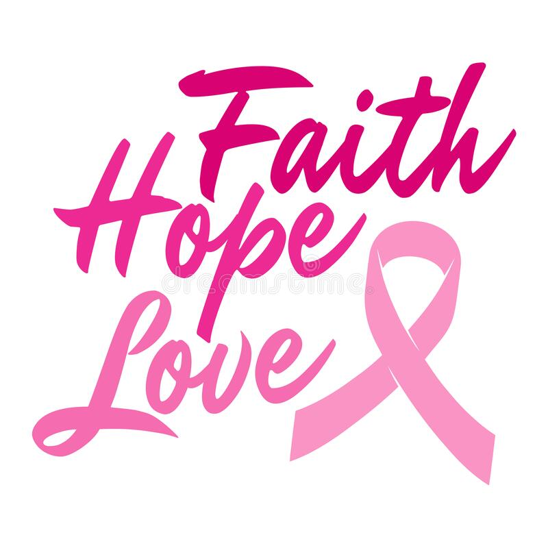 Download Breast Cancer Awareness Quotes. Faith Hope Love Stock ...