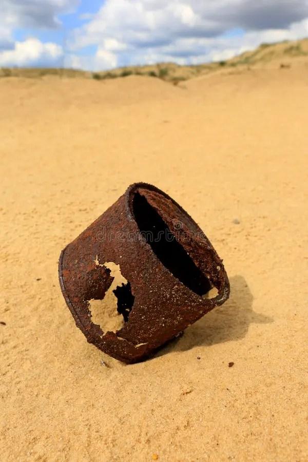 Rusted Tin Can Desert Stock Image Image Of Trash Arid