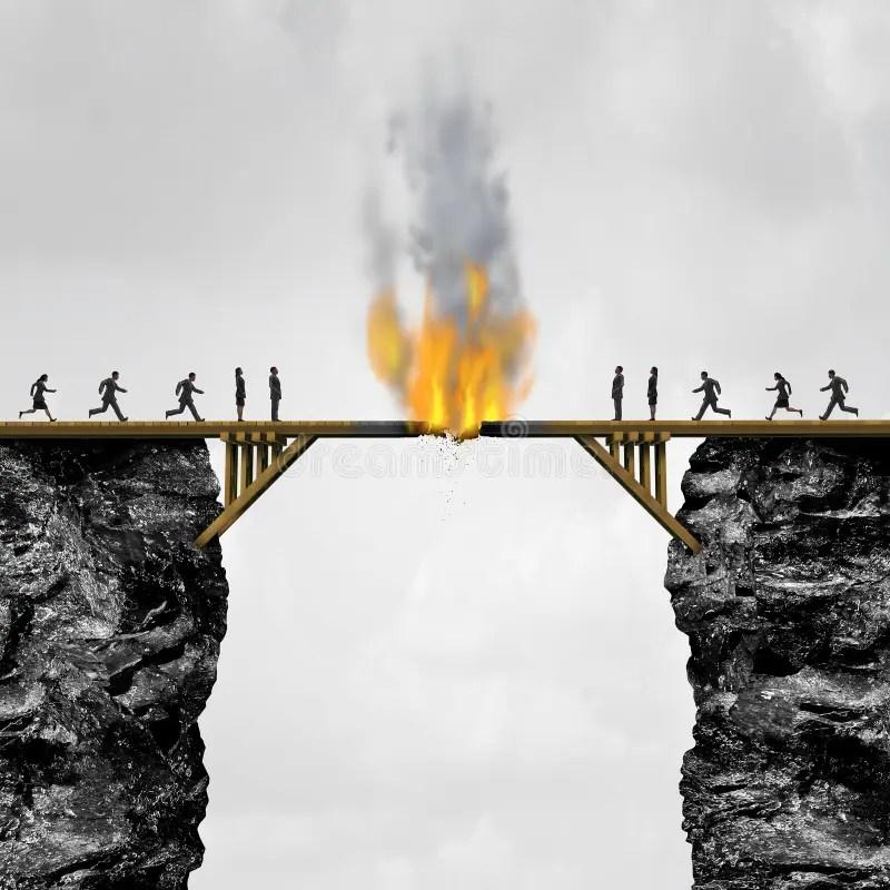Burning Bridges Concept Stock Illustration Illustration