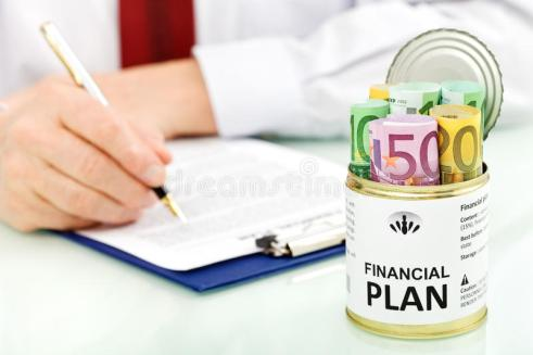 Business Man Making Financial Plan Stock Image - Image of analyzing, investment: 18367205