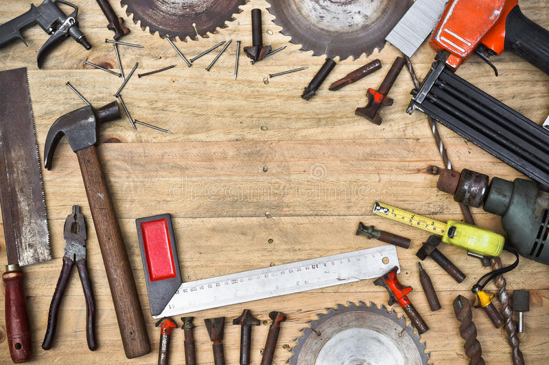Carpenter S Tools Background Stock Photo Image Of Paper