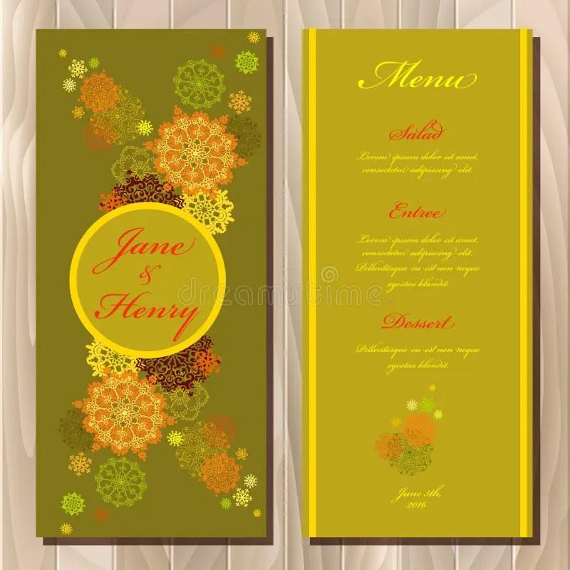 conception de cartes de mariage hindou