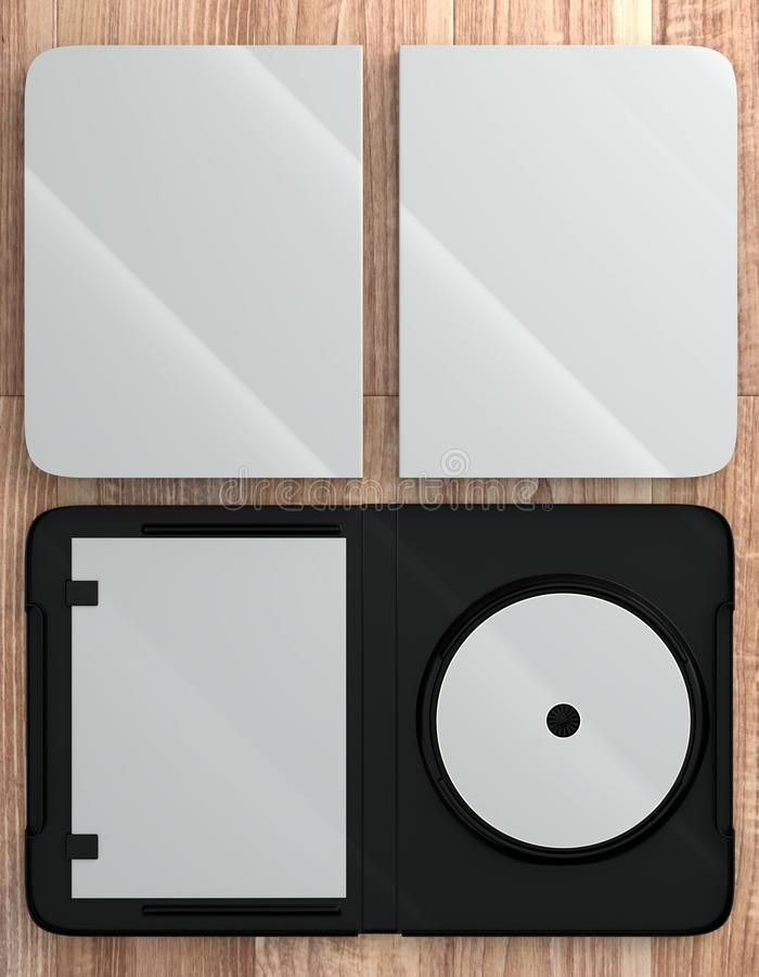 Download CD DVD Disc Plastic Box Mockup. Perspective View. Stock ...