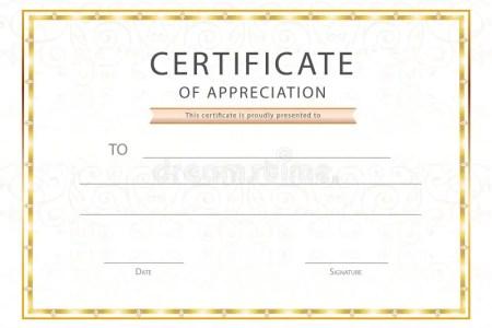 retro frame certificate appreciation design template royalty top