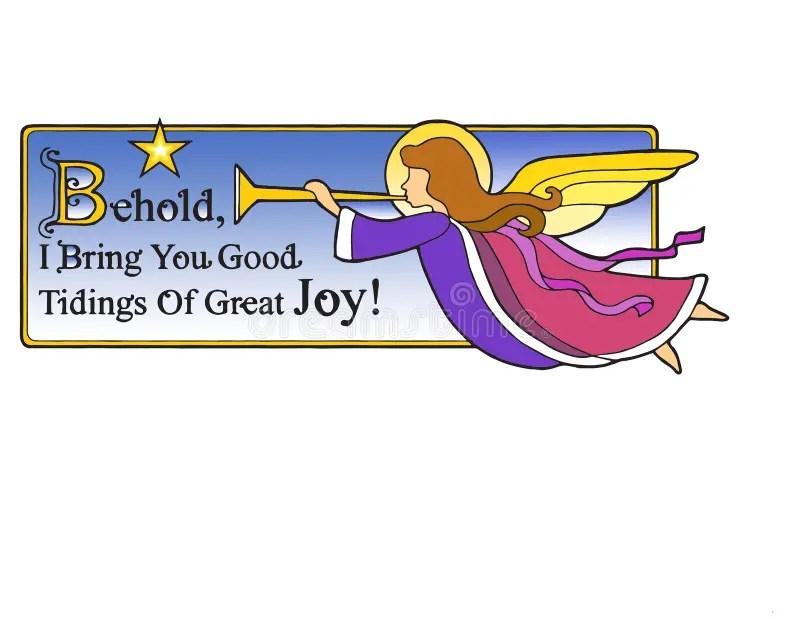 Christmas Angel Behold Stock Illustration Image Of