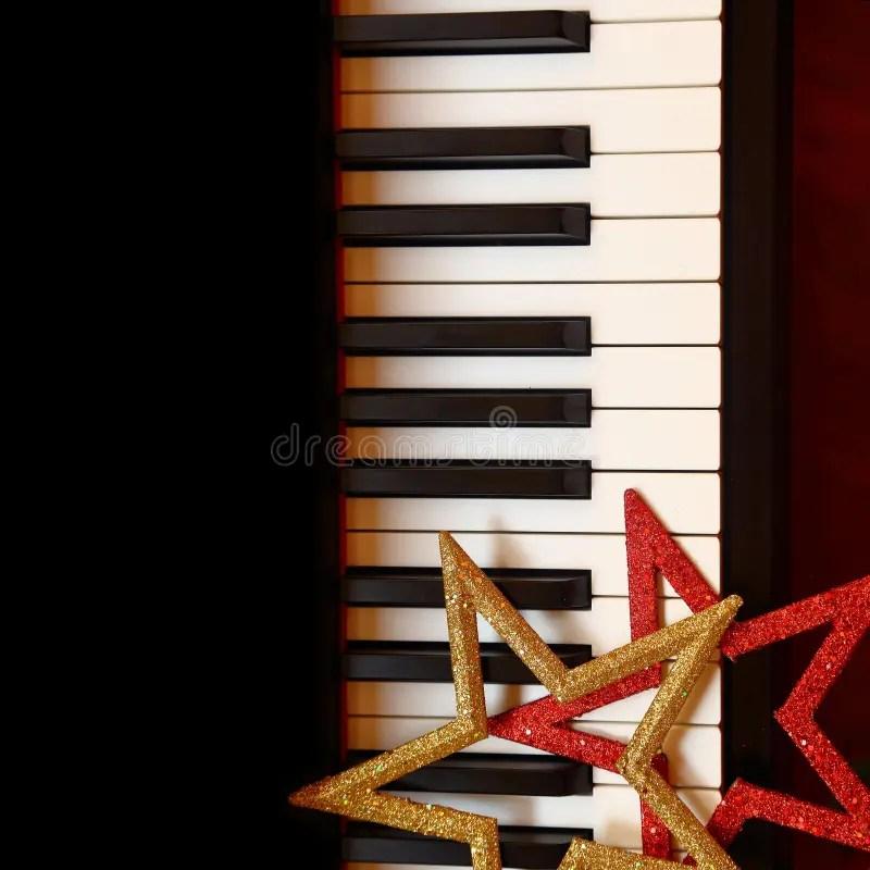 Christmas Ornaments On Piano Stock Photo Image 46386232