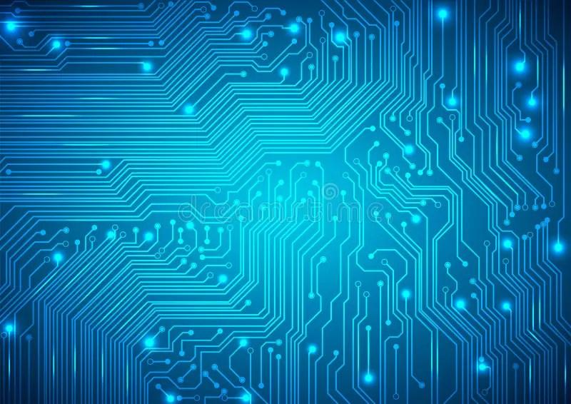 Circuit Board Vector Blue Background Stock Vector