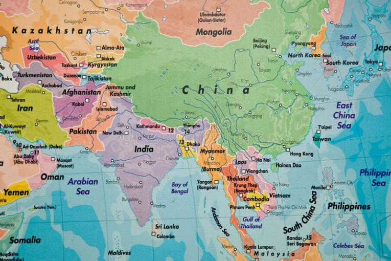Map of Asia stock photo  Image of paint  abstract  cool   29821688 Map of Asia