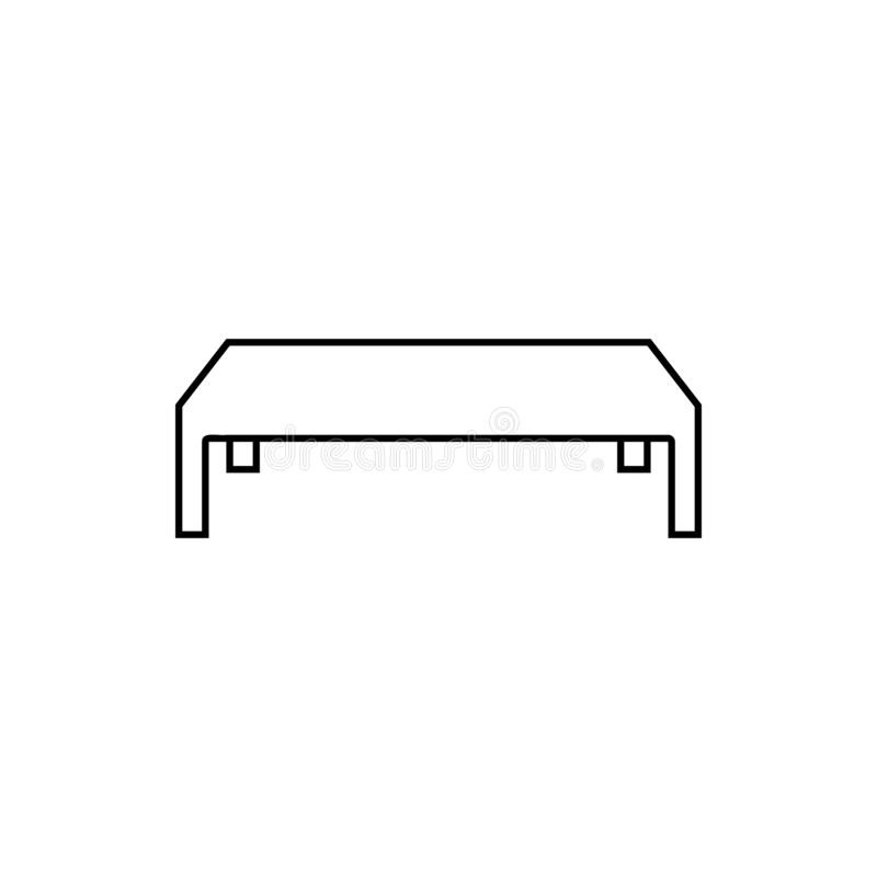 coffee table icon element of furniture