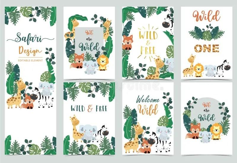 invitation jungle safari stock