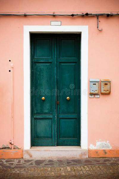 Colorful Doors Of Burano Island, Venice, Italy Stock Image ...