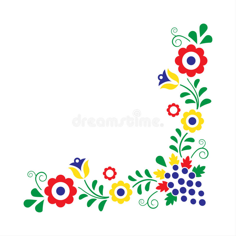Happy Girl In Colorful Dress Dancing At Folklore Vector Image