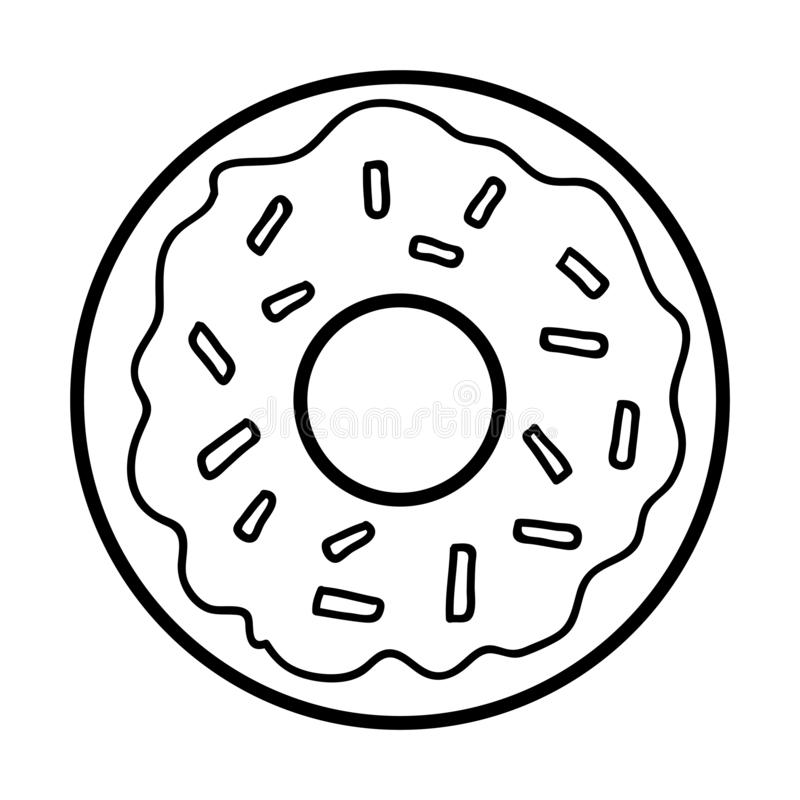 Coloring Book Donut Stock Vector Illustration Of Breakfast 133562079