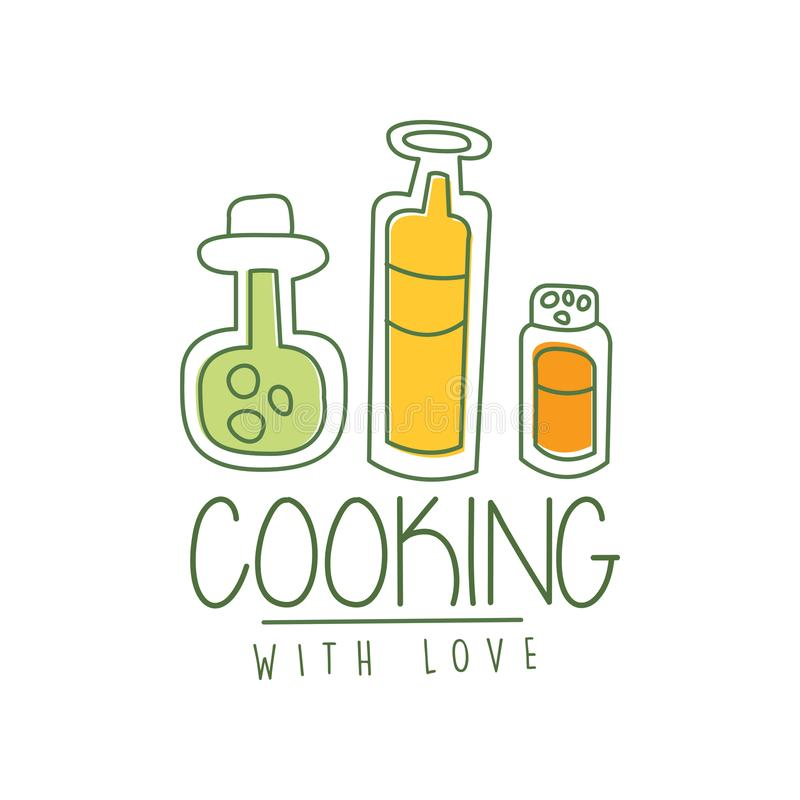 Download Cooking With Love Logo Design With Illustration Of Fork In ...