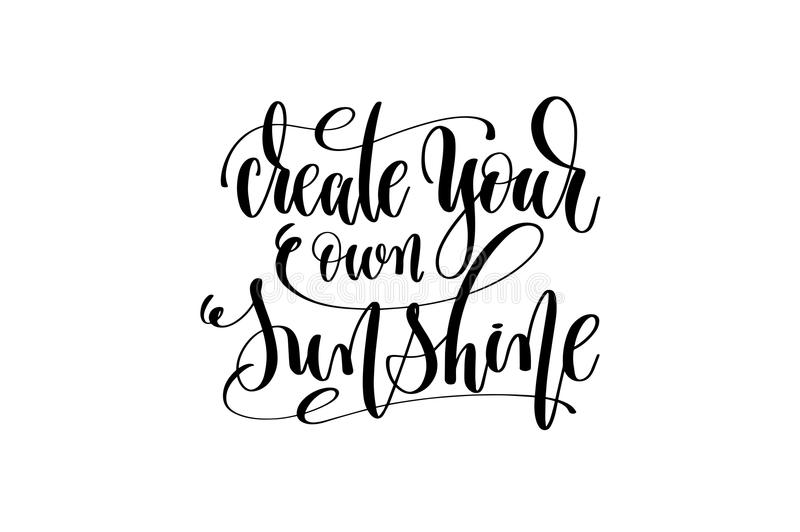 create your own sunshine hand lettering