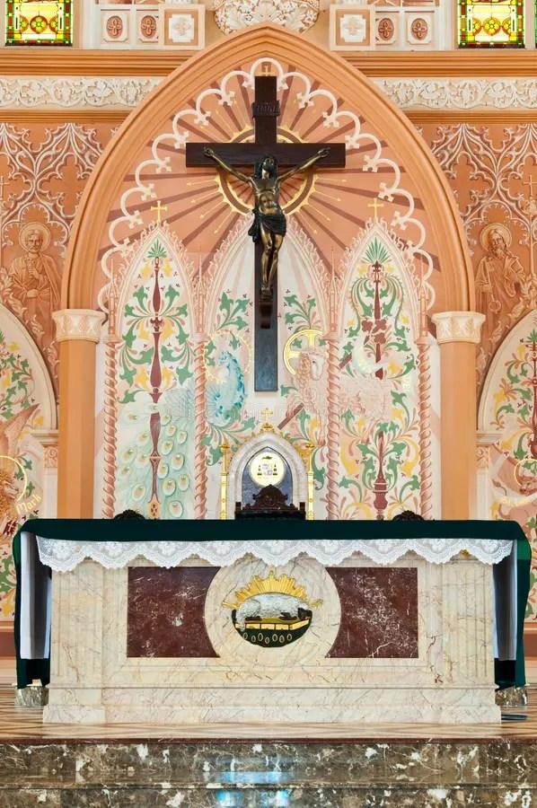 Cross Inside The Church Stock Image Image Of Pray