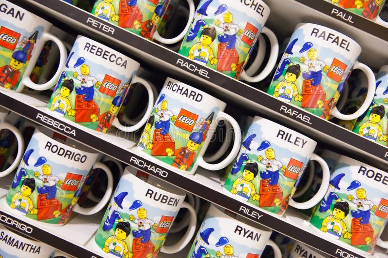 Customized LEGO Mugs With Names Editorial Photo   Image of names     Download Customized LEGO Mugs With Names Editorial Photo   Image of names   castle  121757211