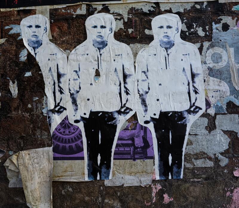 Street Art Collage Glued To Wall Editorial Image Image Of Creativity Meth 152344175