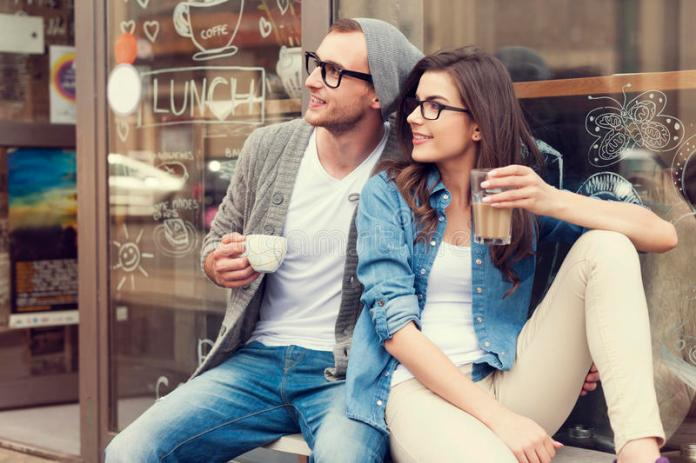 Image result for cute couple cafe
