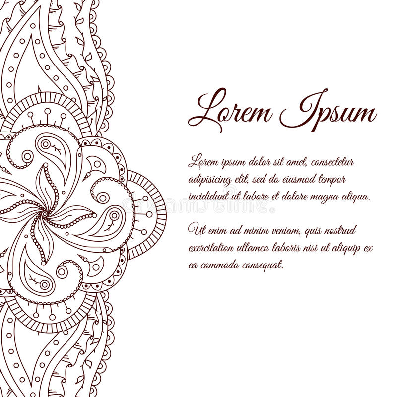 Template Word Border Paisley