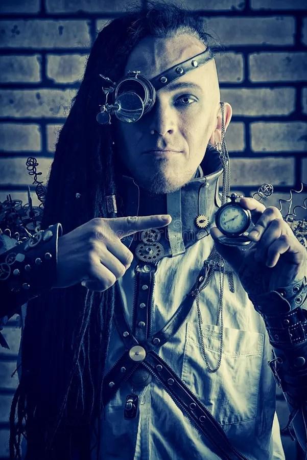 Cyberpunk Man Stock Photo Image 32149090