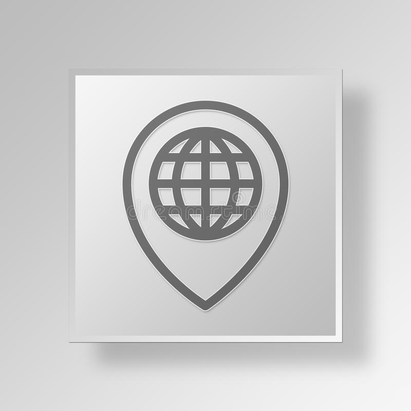 3D Map Button Icon Concept stock illustration  Illustration of     Download 3D Map Button Icon Concept stock illustration  Illustration of  directions   90233131