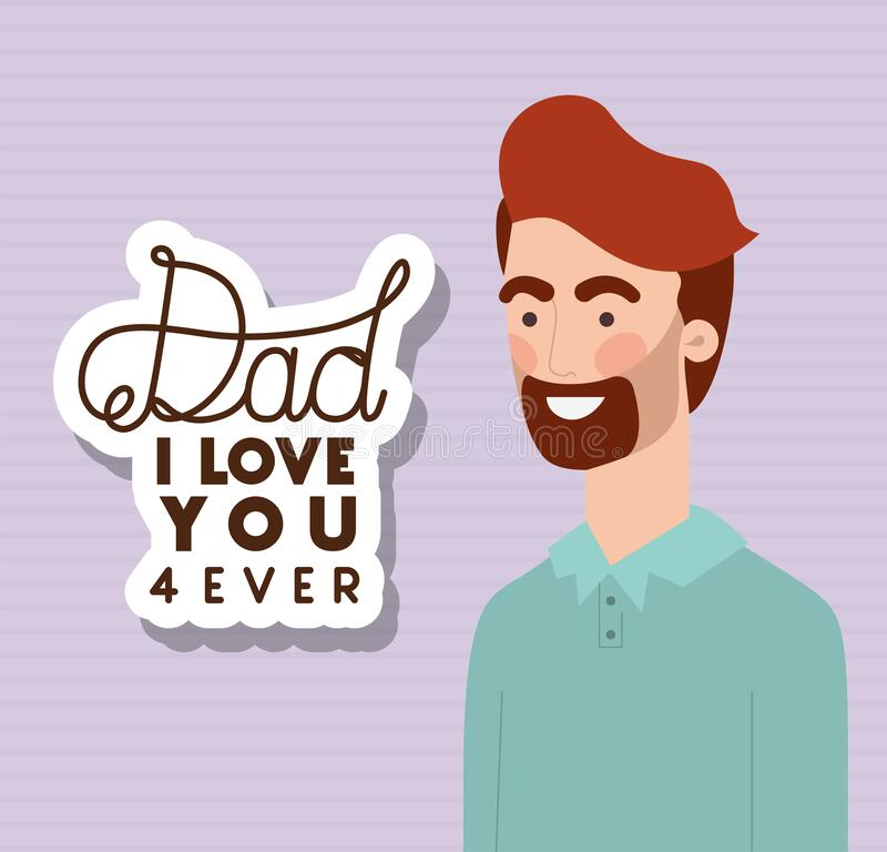 Download Dad I love you stock vector. Illustration of write, text ...