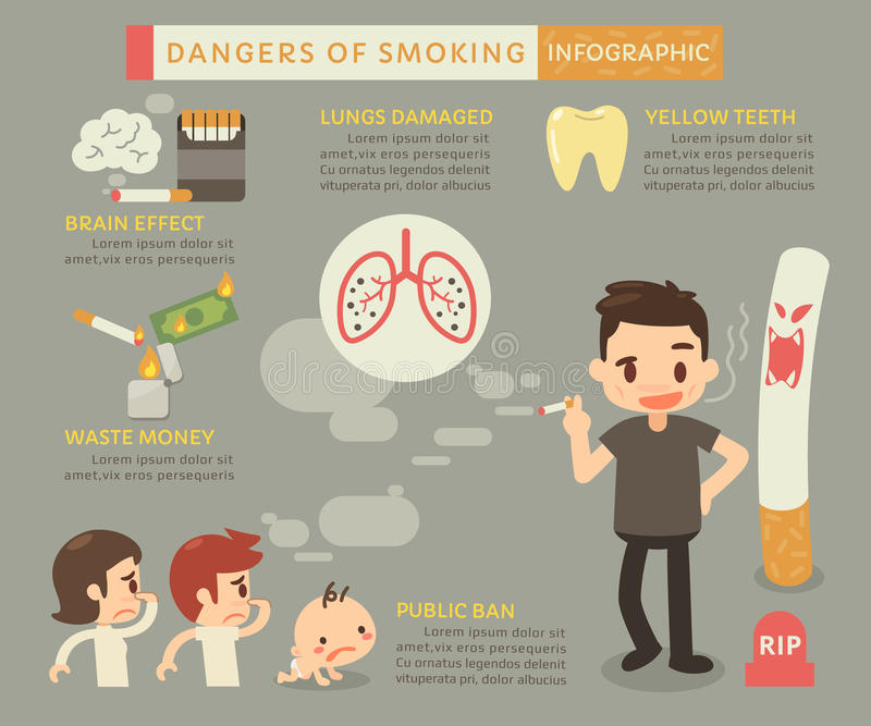 dangers smoking stock illustrations