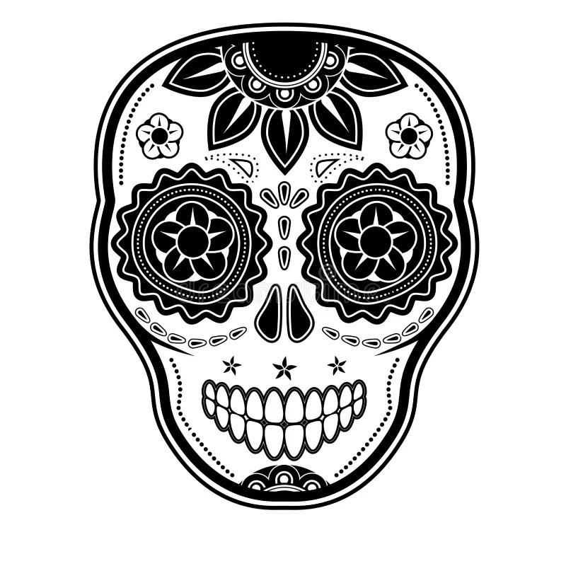 Sugar Skull Pumpkin Carving Templates