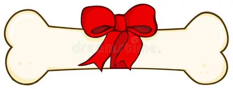 Christmas Dog Bone Cartoon