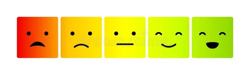 Set Of Emoticons Emoji Isolated On White Background Illustration
