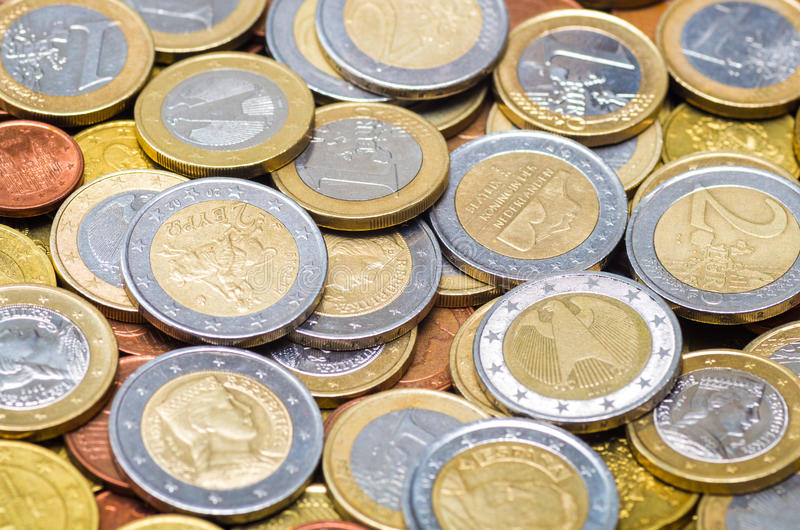 Euro Coins Stock Photo Image Of Investment Bank