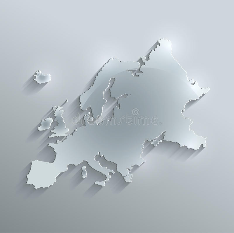 Europe Map Glass Card Paper 3D Stock Illustration   Illustration of     Download Europe Map Glass Card Paper 3D Stock Illustration   Illustration  of background  card