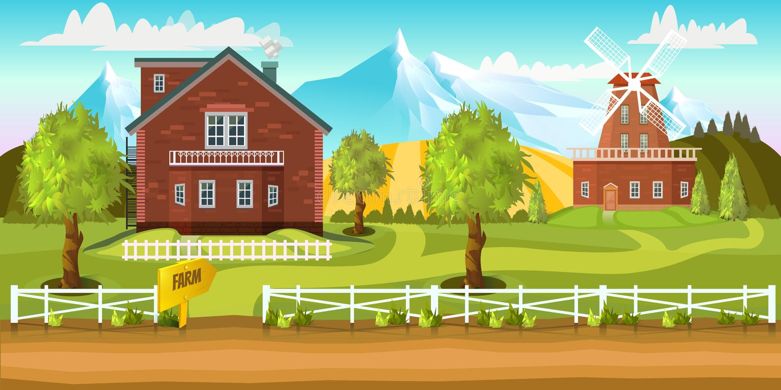 Country Farms Backgrounds