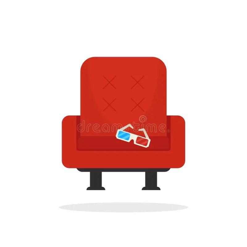 fauteuil rouge de cinema avec les