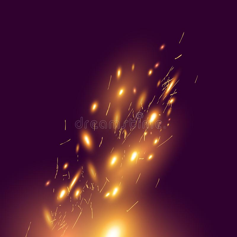 Effect Transparent Flame Purple Spark