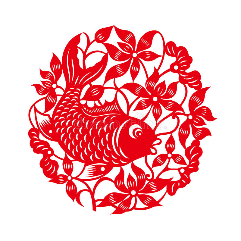 Image result for chinese paper cut fish
