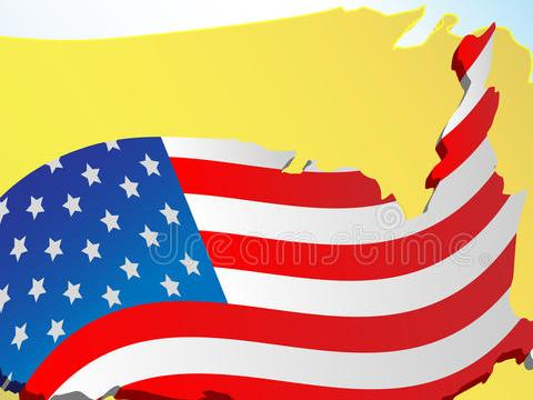 HD Decor Images » Flag and map USA stock vector  Illustration of national   15459509 Download Flag and map USA stock vector  Illustration of national   15459509