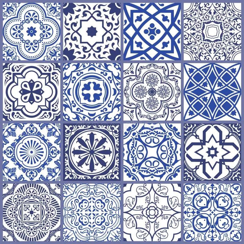 floral seamless mosaic tile vector