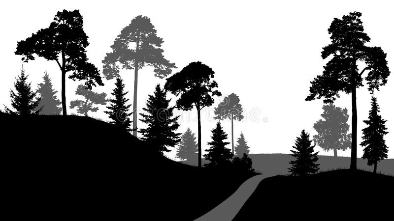 Graphic Silhouette Forest