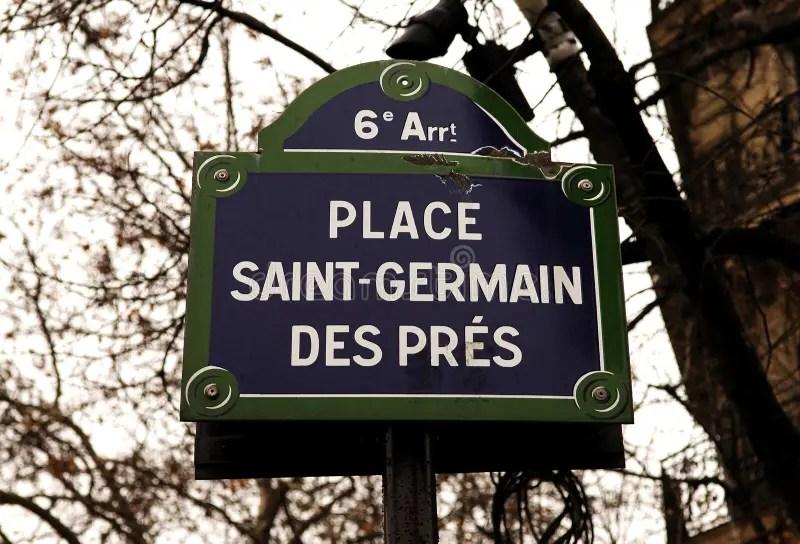 Image result for paris saint germain des pres street sign