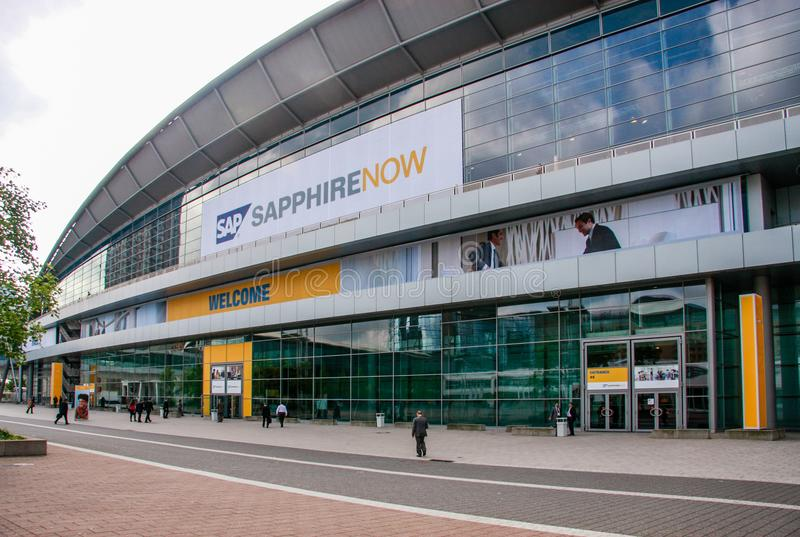 People At Entrance To Sapphire Conference Of Sap Company