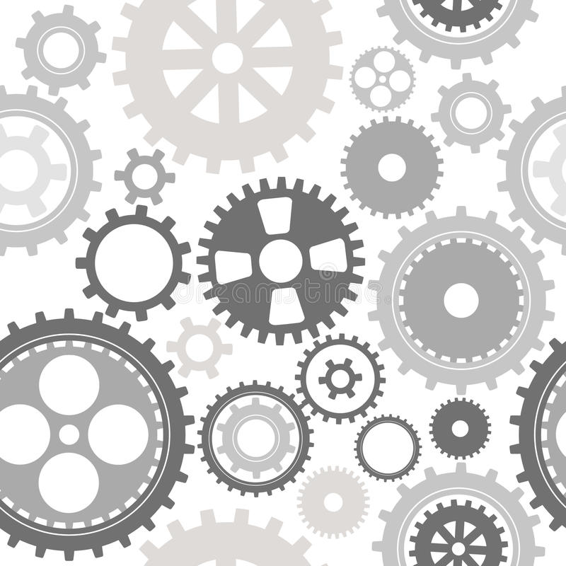 Gear Cog Silhouette Seamless Pattern Royalty Free Stock