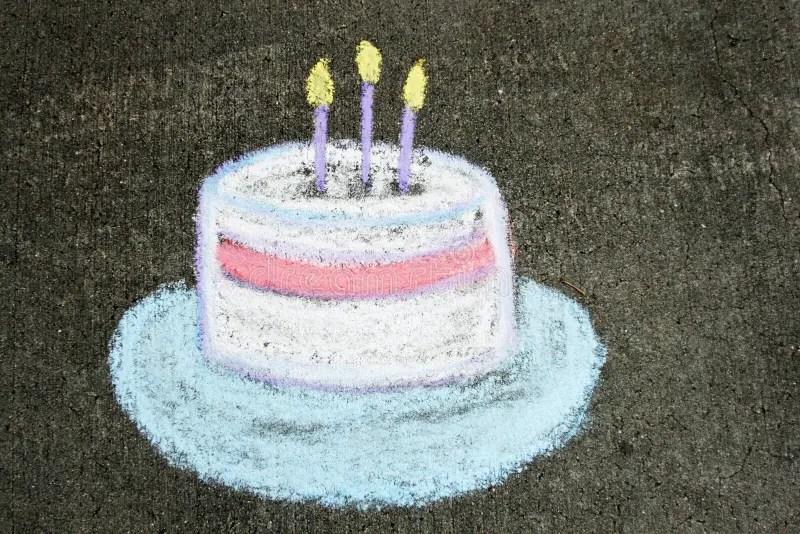 Geburtstag Kuchen Der Kreide Stockfotos Und Bilder Laden Sie 31
