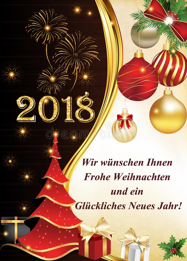 german greeting card we wish you a merry christmas and happy new
