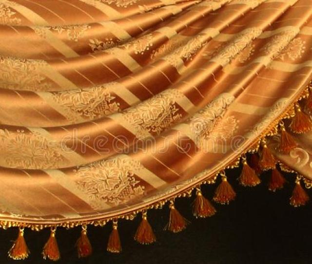 Gold Swag Curtain With Design Free Public Domain Cc Image